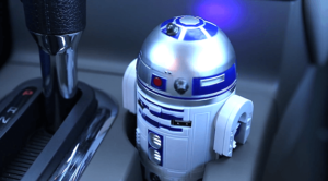 R2D2 Car USB Charger - fits perfectly in cup holder (1)