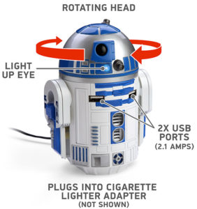 R2D2 Car USB Charger - head can rotate 5