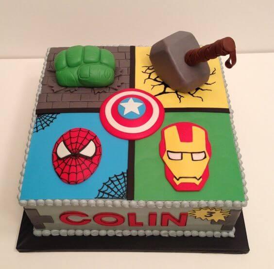 superhero cake - avengers cake (1)