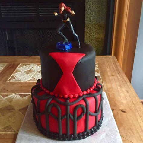 superhero cake - black widow cake (1)
