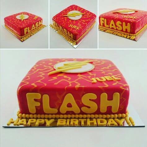 superhero cake flash gordon cake (1)