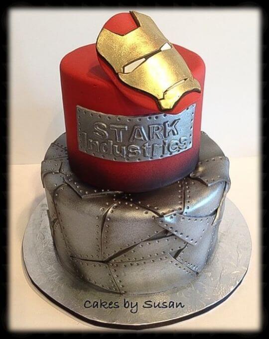 superhero cake - iron man cake (1)