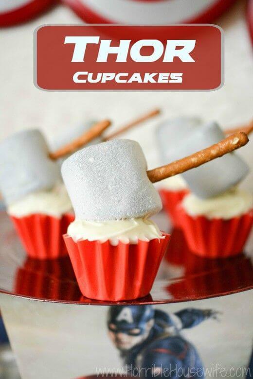 superhero cool cake - thor cupcakes (1)