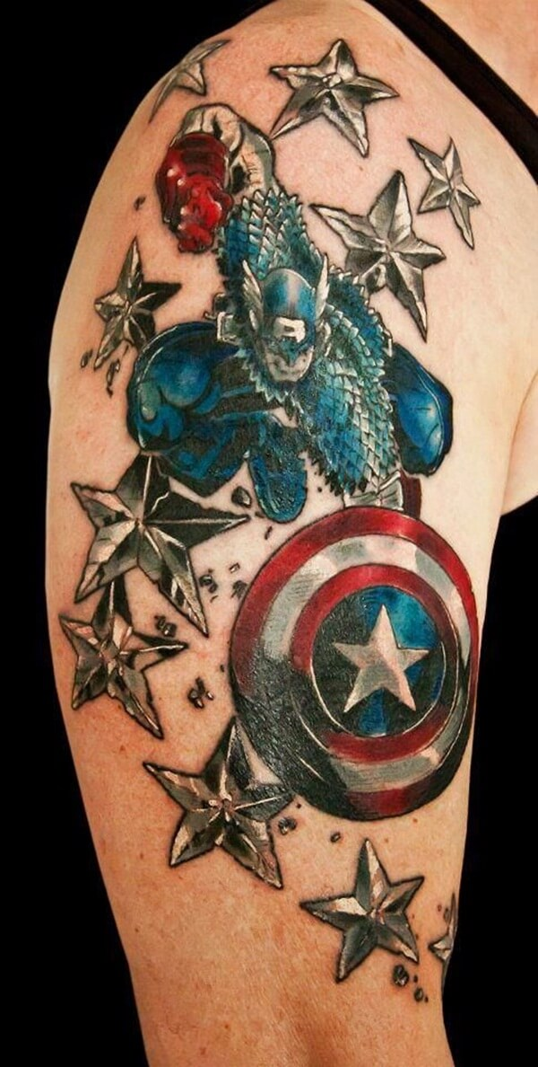 captain america tattoo 2 (1)