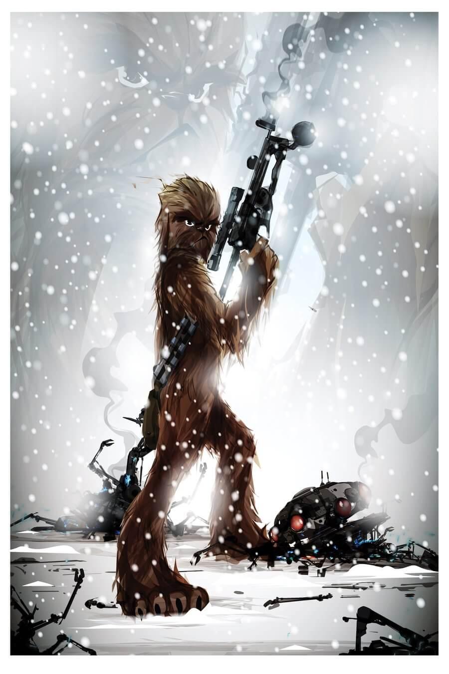 superhero art - chewie (1)
