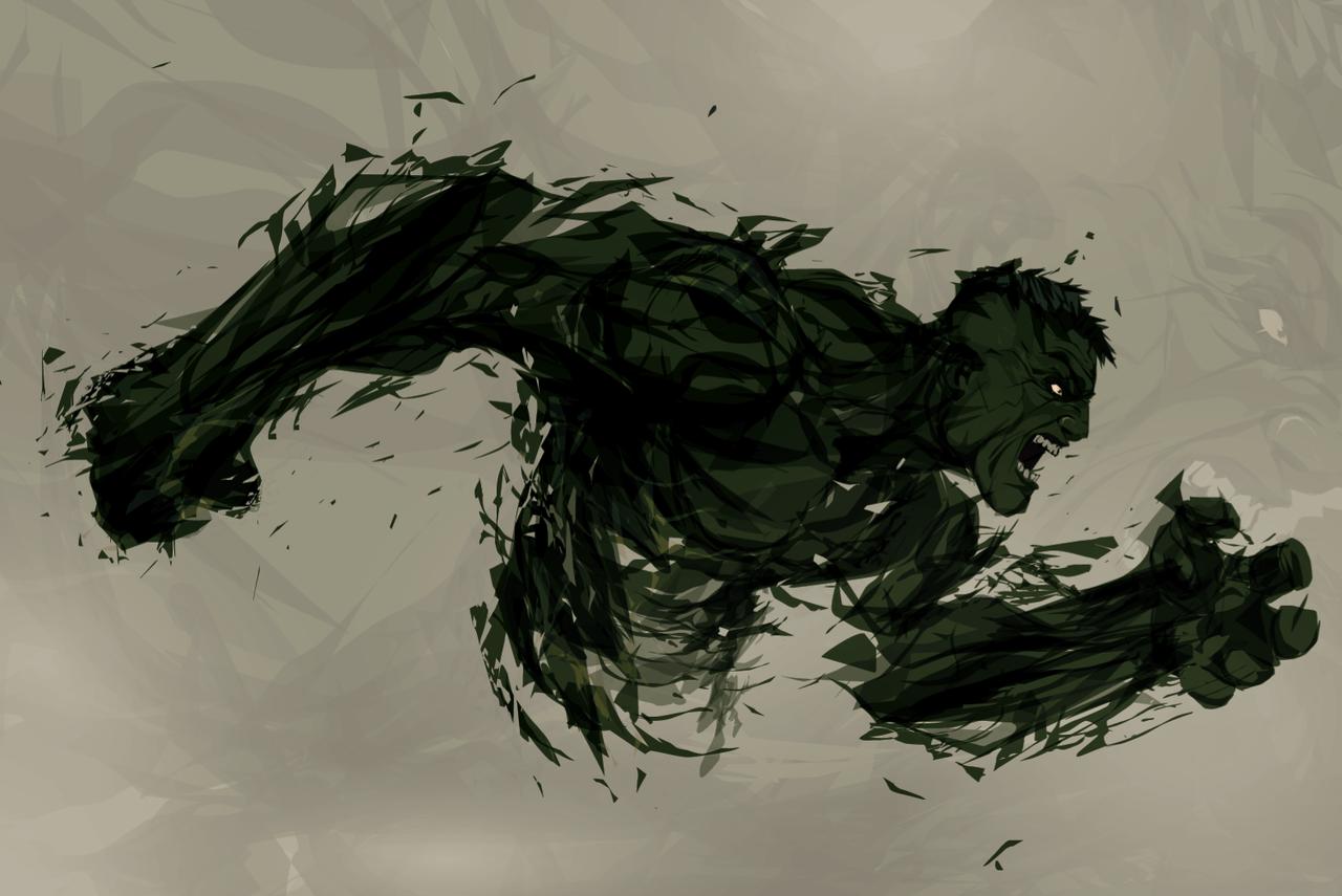 superhero art - hulk (1)