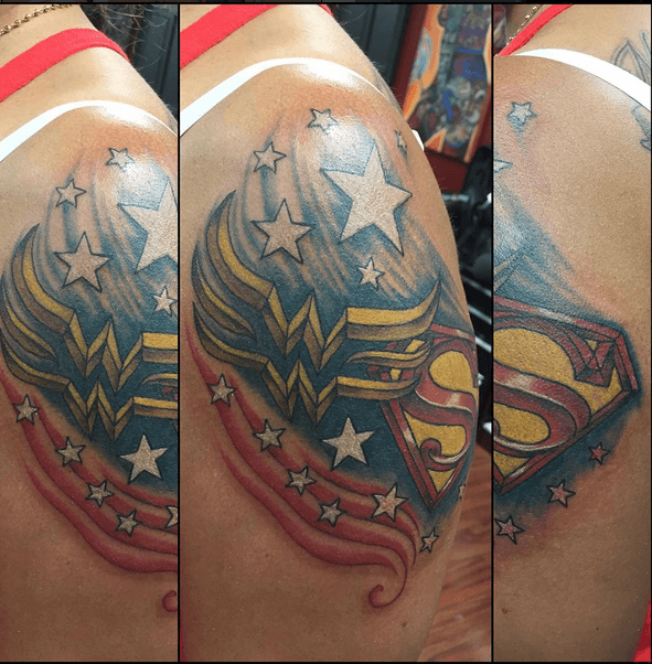 32 Epic Pictures Of The Wonder Woman Tattoo We All Love