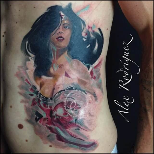 32 epic pictures of the wonder woman tattoo we all love for Tattooed wonder woman