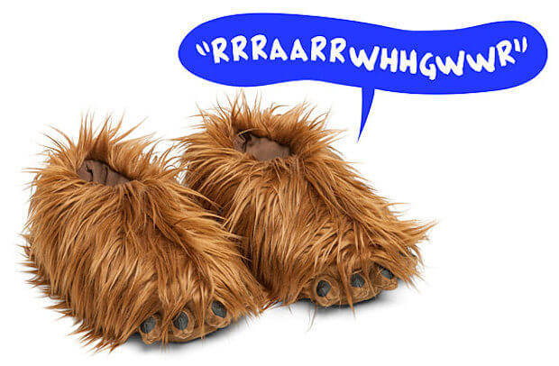 chewbacca slippers 2-1
