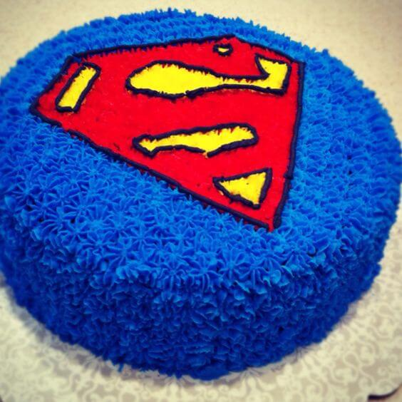 Superman Chocolate Cake