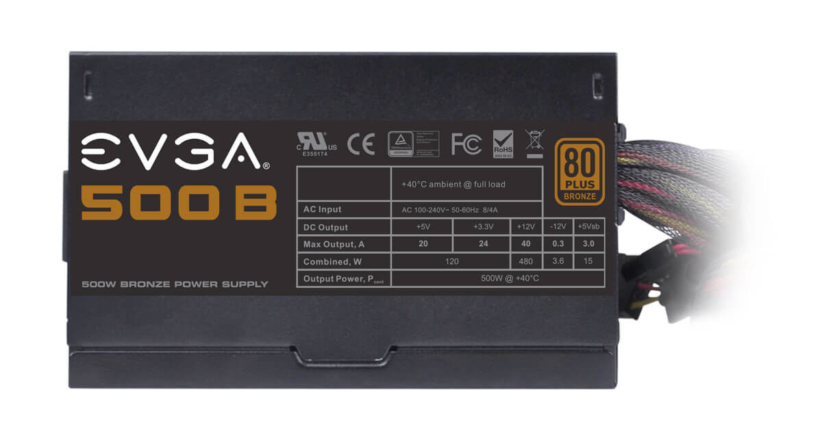 Best power supply for gaming - EVGA 500B