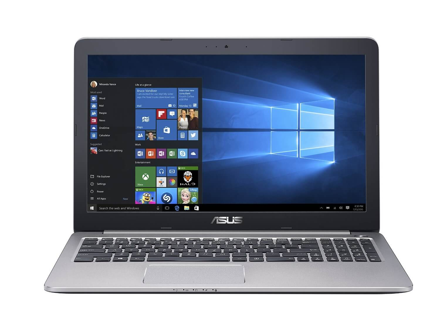 Best ASUS Laptop for Programming K501UX with Core i7