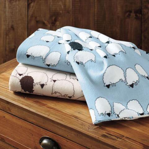 best flannel sheets - Cuddledown Grazing Sheep Flannel Bedding Ensemble