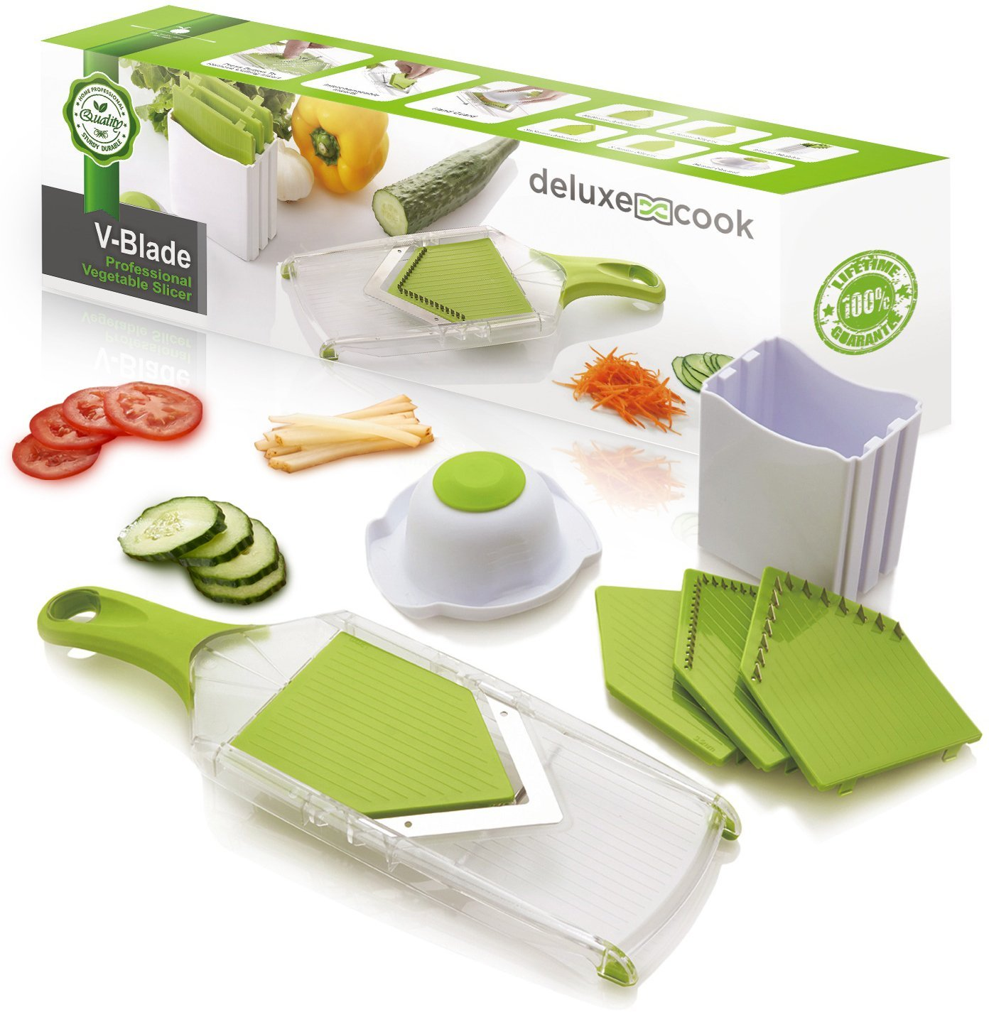 Deluxe Cook V-Blade Mandoline French Fry Cutter