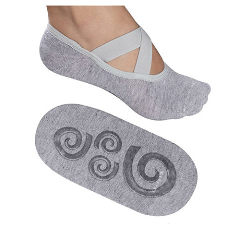 Lupo Women's Essential No-Slip Crossover Yoga Pilates Socks