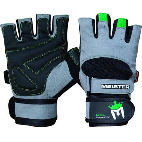 Meister Wrist Wrap Weight Lifting Gloves with Gel Padding
